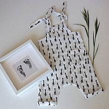 Detské oblečenie - Biely mušelínový overal - žirafy - 12020366_