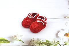 Topánočky - Červeno-sivé papučky EXTRA FINE - 12020676_