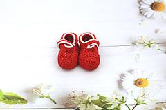 Topánočky - Červeno-sivé papučky EXTRA FINE - 12020677_