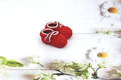 Topánočky - Červeno-sivé papučky EXTRA FINE - 12020678_