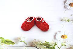 Topánočky - Červeno-sivé papučky EXTRA FINE - 12020679_