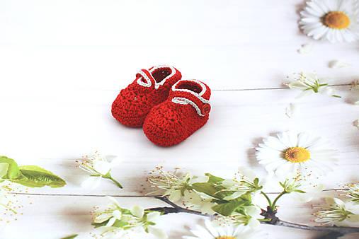 Červeno-sivé papučky EXTRA FINE
