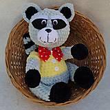 Hračky - Háčkovaný medvedík čistotný - 12021640_