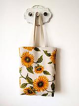 Nákupné tašky - Taška slnečnice - 12020373_