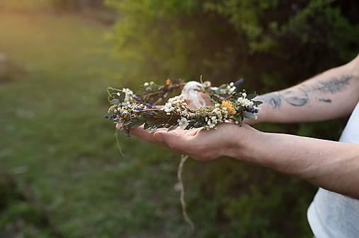 """Kvetinový naturálny venček """"Dotyk prírody"""""""