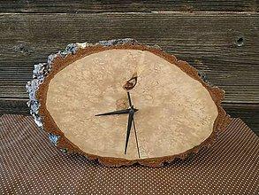 Hodiny - Stojace hodiny z brezového dreva - 12020027_