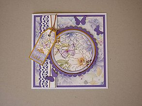 Papiernictvo - Pohľadnica s 3 motýlikmi - 12020489_