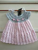 Sivoružové šaty