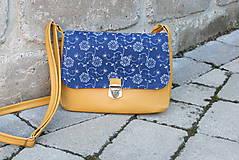 Kabelky - Modrotlačová kabelka Eliška žltá 3 - 12019439_