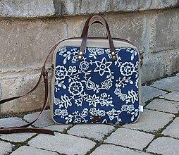 Kabelky - modrotlačová taška Laura 1 - 12019398_