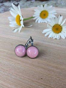 Náušnice - ružové náušnice - oceľ - 12019921_