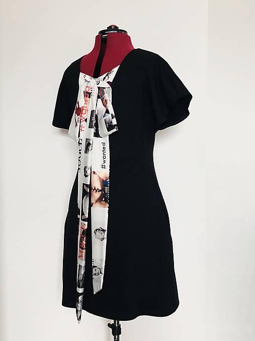 Šaty s mašľou čierne