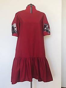 Šaty - Šaty Hera bordové - 12022564_