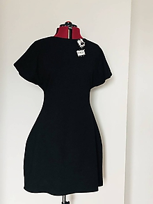 Šaty - Šaty s mašľou čierne - 12022571_