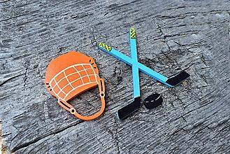 Detské doplnky - hokejka+helma - 12022928_