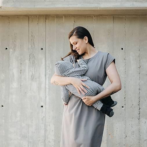 Šaty - Šaty Grey Bio Mama - 12024945_