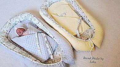 Textil - Hniezdo pre bábätko - vzor mačka - 12025348_