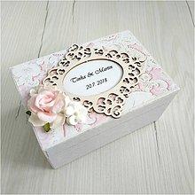Krabičky - Krabička na prstienky - 12026319_
