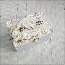 Krabičky - Krabička na prstienky - 12026332_