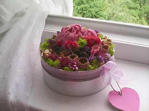 Kvetinová krabička prírodná ... vôňa kvietkov ...