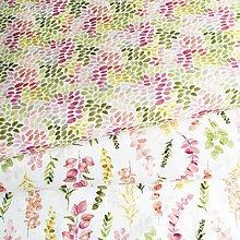 Textil - akvarelové machuľky, 100 % predzrážaná bavlna Španielsko, šírka 150 cm - 12023217_