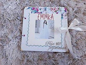 Papiernictvo - Zdobený album na prijímanie (Ružová) - 12023242_