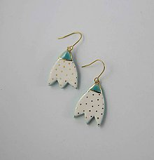 Náušnice - TANA hand made jewellery - keramika/zlato - 12023363_