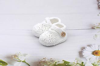 Detské topánky - Biele papučky EXTRA FINE - 12024375_