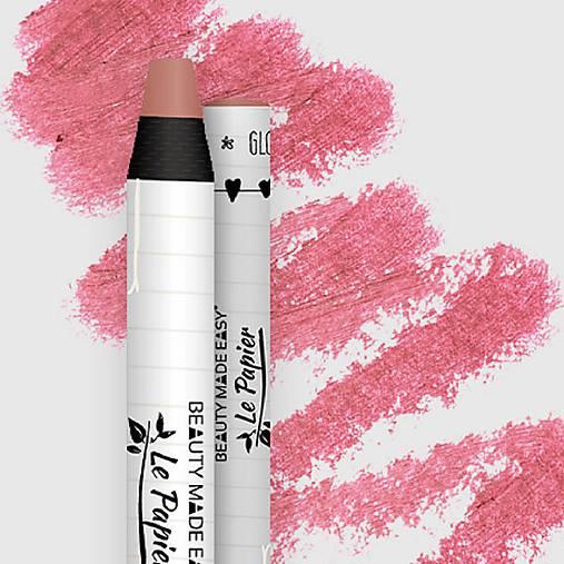 Prírodný rúž v papierovom obale Le Papier (Prírodný rúž v papierovom obale Le Papier, lesklý, 6g – Blush)