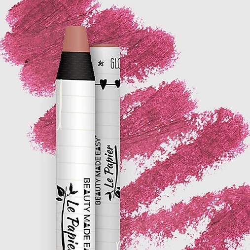 Prírodný rúž v papierovom obale Le Papier (Prírodný rúž v papierovom obale Le Papier, lesklý, 6g – Blossom)