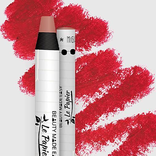 Prírodný rúž v papierovom obale Le Papier (Prírodný rúž v papierovom obale Le Papier, matný, 6g – Classy)