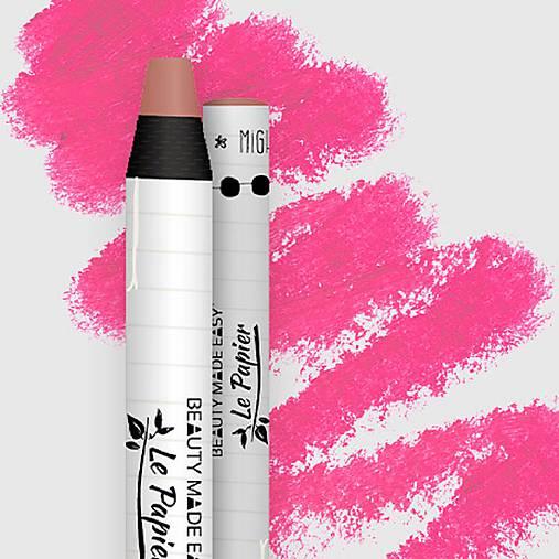 Prírodný rúž v papierovom obale Le Papier (Prírodný rúž v papierovom obale Le Papier, matný, 6g – Rouge)