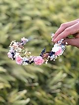 """Ozdoby do vlasov - Kvetinový polvenček  """"naše chvíle"""" - 12023501_"""
