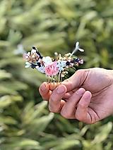 """Ozdoby do vlasov - Kvetinový mini hrebienok """"naše chvíle"""" - 12023547_"""