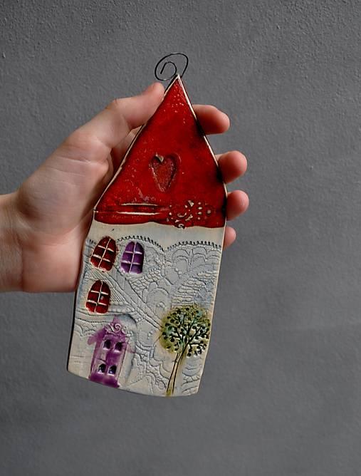 Obrázok domček  červený