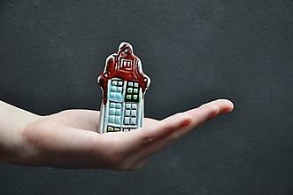 Dekorácie - dom domček červený - 12024622_