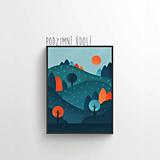 Grafika - Podzimní údolí - 12023992_