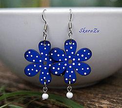Náušnice - Bloom Blue // mini - 12026206_