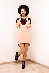 Šaty - Teplákové mini šaty Oblúk - 12026571_