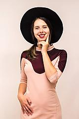 Šaty - Teplákové mini šaty Oblúk - 12026572_