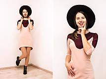 Šaty - Teplákové mini šaty Oblúk - 12026659_