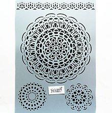Pomôcky/Nástroje - Šablóna Stamperia - 20x30 cm - mandala, čipka, krajka - 12028061_