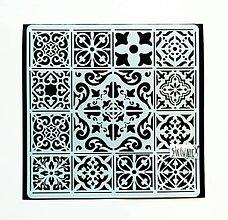 Pomôcky/Nástroje - Šablóna Stamperia - 18x18 cm - Azulejos tiles, mandala - 12028572_