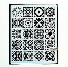 Pomôcky/Nástroje - Šablóna Stamperia - 20x25 cm - Azulejos, mandala - 12028653_