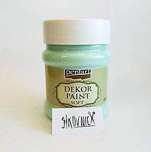 Farby-laky - Dekor paint soft - 230 ml (zelená patina) - 12028762_