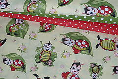 Textil - Látka Chrobáčik na liste - 12030440_