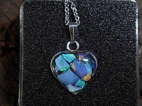 Náhrdelníky - Top-opalas-heart- - 12030671_