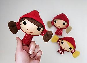 Hračky - Prstová maňuška človiečik (Červená čiapočka - na výber) - 12030765_