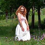 Sukne - EVA - nariasená zavinovacia sukňa - RôZNE VZORY - 12030535_
