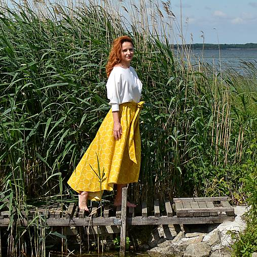 LUCY - asymetrická maxi sukňa